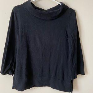 Joe Fresh Women's Black Cowl Neck Sweater Top, L